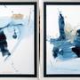 Paintings - AZUL I & II - NOVOCUADRO ART COMPANY