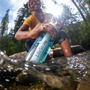 Travel accessories / suitcase - Bottle with water filter 0.65L, BPA-free plastic, clear blue - LIFESTRAW®