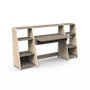 Desks - ASYMETRY DESK DOUBLE SHELF - MATHY BY BOLS