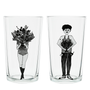 Verres - glass flower girl & flower man - HELEN B