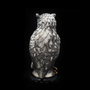 Sculptures / statuettes / miniatures - Eagle Owl Silver Sculpture with Obsidian - ORMAS GROUP