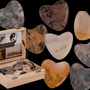 Objets de décoration - Natural Stone Heart, Wory Hearts - OUT OF THE BLUE