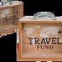 Objets de décoration - Tirelire en bois, Travel Fund - OUT OF THE BLUE