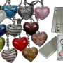 Jewelry - Keyring, glass heart - OUT OF THE BLUE