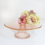 Tea / coffee accessories - Rose Glass -  Cake Stand  - CRISTINA RE