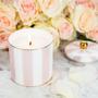Bougies - Bougie rayée fard à joues et ivoire (Champagne fraise) - CRISTINA RE