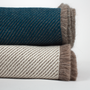 Throw blankets - Reversible baby alpaca and silk throw - ÁBBATTE