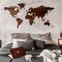 Decorative objects - Wooden World Map 3D - OAKYWOOD