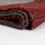 Contemporain - Tapis en laine tabby avec colorants naturels - ÁBBATTE