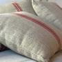 Fabric cushions - Vintage hemp pillows - GOVOU FABRICS