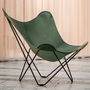 Fauteuils - Pampa Mariposa (fauteuil cuir) - Structure Noire - CUERO