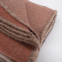 Throw blankets - Reversible rosy alpaca throw with natural dyes - ÁBBATTE