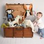 Soft toy - Plush Unicorn Ecru Knit - SEVIRA KIDS