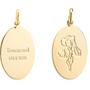 Bijoux - Collier chaîne maillon médaille herbier - JOUR DE MISTRAL