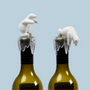 Wine - Bottoms Up Bear – Wine Bottle Stopper : Iceberg Kitchen Collection Party Drinks Wine - QUALY DESIGN OFFICIAL