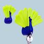 Objets déco -  Porte-clés Paon: Collection Porte-clés - QUALY DESIGN OFFICIAL