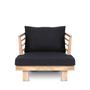 Lawn armchairs - Outdoor armchair STRAUSS AC Black - DAREELS