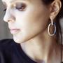 Bijoux - Chain boucles d'oreilles 1 maillon - CHRISTINE'S - HANDMADE DESIGNERS ACCESSORIES