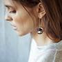 Bijoux - Demi sphères boucles d'oreilles - CHRISTINE'S - HANDMADE DESIGNERS ACCESSORIES