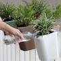 Mobilier et rangements - Pixel Pot: pot de plantes auto-arrosage en plastique recyclé pour jardin intérieur et extérieur Équipement de bureau conteneur - QUALY DESIGN OFFICIAL