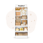 Storage boxes - Paper stand, white, 58x160x40cm - PARTYDECO