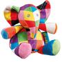 Soft toy - Elmer plush rattle - PETIT POUCE FACTORY