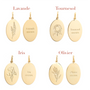 Jewelry - Bracelet beads medal flower herbarium of Provence - JOUR DE MISTRAL