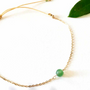 Jewelry - Aventurine Link Bracelet - GIVE ME HAPPINESS