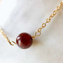 Jewelry - Necklace 40/42 cm Garnet - GIVE ME HAPPINESS