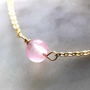 Jewelry - Necklace 40/42 cm Chalcedony Pink - GIVE ME HAPPINESS
