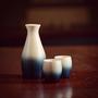 Glass - Indigo Hinoki Sake Cup Set - AOLA