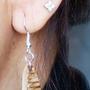 Bijoux - Boucles d'oreilles réalisées à partir de feuilles de Palmier - ARECABIO