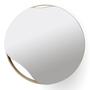 Mirrors - Mirror PUDDLE | oak wood, black or white, ∅ 70 cm - NAMUOS