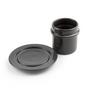 Accessoires thé et café - Tasse et soucoupe | Gris foncé ou blanc - NAMUOS