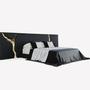 Upholstery fabrics - LAPIAZ BLACK Headboard - BOCA DO LOBO