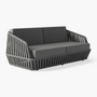 Lawn sofas   - LITUS / Sofa 2-seater - 10DEKA OUTDOOR FURNITURE