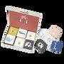 Jeux enfants - Jeu de memory, cube, puzzle et valisette de rangement - FRESK