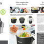 Platter and bowls - ELECTRIC LUNCH BOX DETOXIMIX MEAL - DETOXIMIX