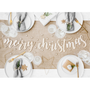 Decorative objects - Muslin table runner, light cream, 0.70x5m - PARTYDECO