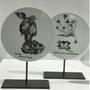 Unique pieces - FOSSIL Curiosity Disc - Vorticella stentorea - VERONIQUE JOLY-CORBIN