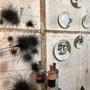 Autres décorations murales - Installation murale d'assiettes illustrées AUTOMNE - VERONIQUE JOLY-CORBIN
