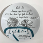 Other wall decoration - Wall installation of illustrated plates TIME - VERONIQUE JOLY-CORBIN