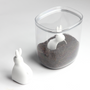 Bowls - Bella Bunny Rice Container and Scoop - Kitchenware : Spice Salt and Pepper Shaker Cactus Dining and Tableware - QUALY DESIGN OFFICIAL