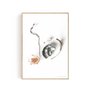 """Art photos - """"Oyster & leaves"""" / Wall art / Giclée print - DOEN STUDIO"""