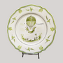 Formal plates - Feston plate with Montgolfière hand painted decoration - BOURG-JOLY MALICORNE