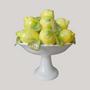 Decorative objects - Compotier Citrons sur pied haut basket sculpture - BOURG-JOLY MALICORNE