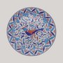 Formal plates - Rond Bord Uni serving plate with Iznik Bird hand painted decoration - BOURG-JOLY MALICORNE