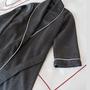 Homewear - Robe de chambre avec passepoil - 100% Bio - MYDO.WORLD