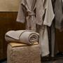 Plaids - Couverture gaufre King size 250x200 beige clair - 100% Coton Bio - MYDO.WORLD