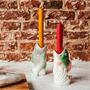 Objets de décoration - Bougeoir Poisson Gris & Rose - KITSCH KITCHEN
